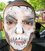 Face painting - ghoul face